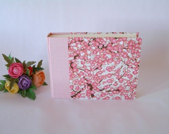 Photo album (6x8) 15x20.5cm -30 pages- pink plum blossoms - Ready to ship