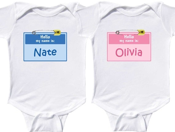 Personalized Twin Bodysuits Twins Coming Home Outfits Twin Creepers Fraternal Twins Boy Twins