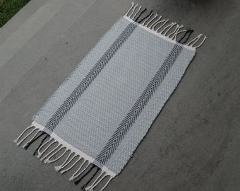 Small Rag Rug in Gray