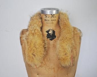 Honey Fox Fur Collar / genuine fur