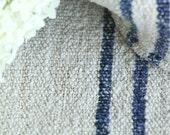 PB 456 antique dark NAVY BLUE grain sack upholstery fabric 18.90wide french lin wedding tablerunner grainsack