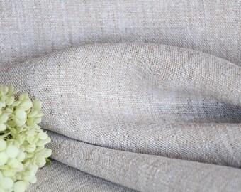RW432 antique hemp french 천 LIGHT BROWN upholstery 11.47 yards  laundered handloomed benchcushion Beachhouse look