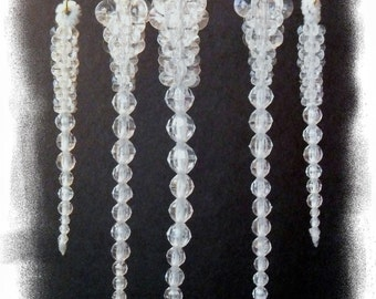 "Ornaments - Beaded Icicles - Large (8"" )"