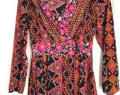 psychedelic womens top from the 70s 80s so cool rayon print