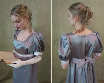 SALE Silver Regency Jane Austen Dress size Small