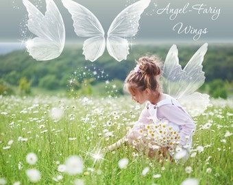 Designer Gems Overlays - Angel-Fairy Wings - (3) Photoshop .png files - Photography Overlays For Your Photos and Quick Pages.