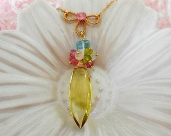 Gold Necklace Romantic 14kgf