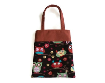 Handmade Fabric Owl Gift Bag - Owls
