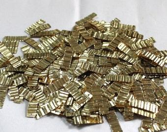 100 Golden Color/ Metallic Crimpled Texture/Rectangle Shape /KBRGS608