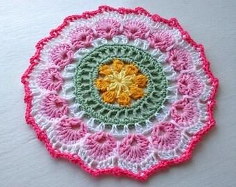 Pretty Crochet Mandala Table Mat Center Piece