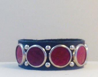 deep red bezel bracelet