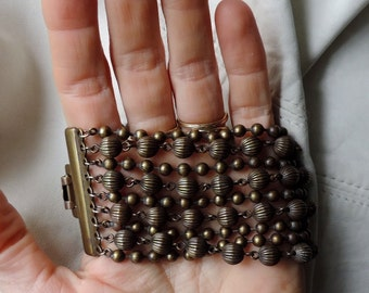 wide bracelet brass bead 1930s