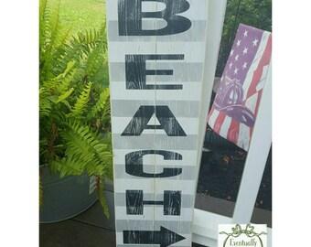 Handpainted Beach sign