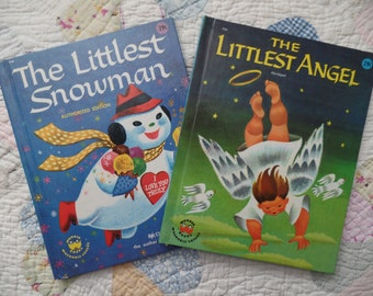Vintage Wonder Books The Littlest Snowman and The Littlest Angel