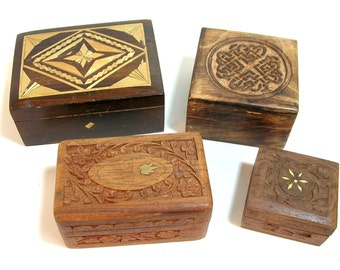 Wood Box Collection, Vintage Wood Boxes