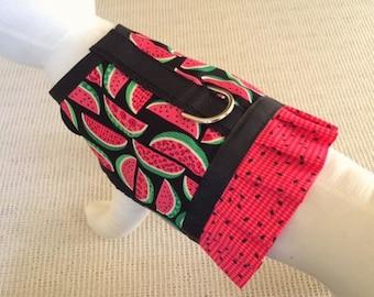 Watermelon Ruffle Dog Harness Vest