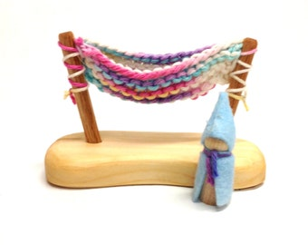 Hammock with gnome Easter colors