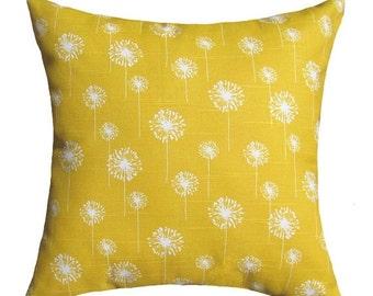 Dandelion Throw Pillow  - Small Dandelion Corn Yellow Decorative Pillow Free Shipping