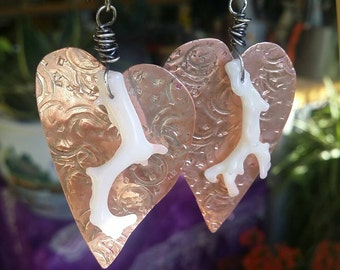 Textured Heart Earrings