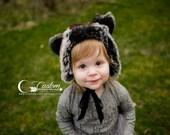Faux Fur Black Bear Hat Photography Props, Props for Babies, Winter Hat, Baby Boy Props, Animal Hat, Faux Fur, Sitters, Toddler, Kids Hats