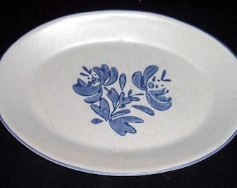 "Pfaltzgraff Stoneware YORKTOWNE 12"" Oval Serving Platter USA"