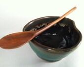 LEFT Hand Reclaimed Mountain Mahogany HAND CARVED small tasting spoon