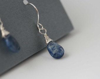 gemstone earrings, blueberry drops earrings.  dangle earrings drop earrings