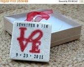 LOVESALE Personalized Love Park Ornament - Custom Gift for the Couple - Wedding Present