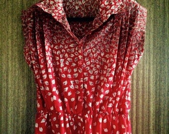 Vintage blouse - red/orange