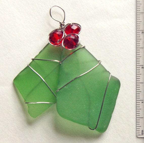 Sea Glass Christmas Tree Ornament Or Suncatcher In Christmas