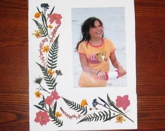 "Pressed flower framing ""mat"", 8x10, for 4x6 photo"