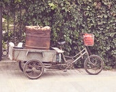 Bicycle Photography, Rustic Kitchen Art, Travel Photography,  Beijing Street Photography, Food, China art, neutral decor, gray and brown