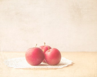 Food Photography, Plums Photograph, farm market finds, soft romantic, pastel, kitchen art, rustic art, soft, pink, fruit photograph