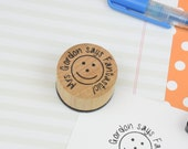 Personalised Round Teacher Stamp - your name and message