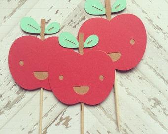 1 Dozen Apple Cupcake Picks