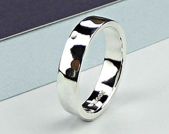 Planished Sterling Silver Ring