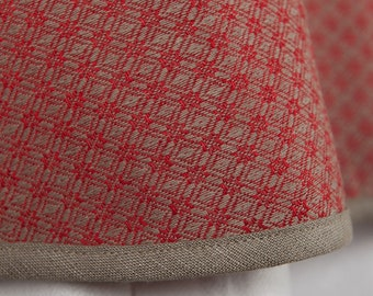 Round Linen Christmas Tablecloth | Red Oval Linen Table Cloth | Round  Patterned Tablecloth | Red