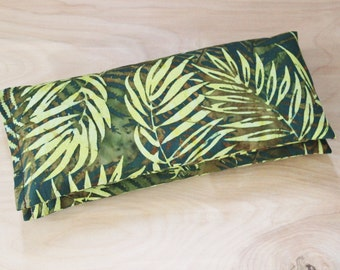Fern Pillow Lavender Flaxseed Eye Pillow, Yoga, Meditation, Self Care, Jungalow Style