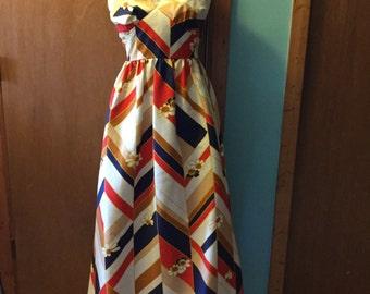Vintage Sears maxi halter dress