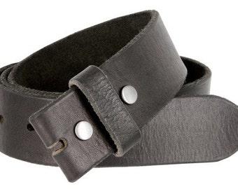 Vintage Full Grain Leather Belt Strap/BLACK