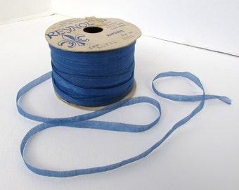 Vintage French Ribbon Royal Blue Reynolds France 1/4 inch rib0220 (2 yards)