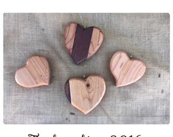 Reclaimed Wood Hearts - Heart Decor - Cedar - Garden Decor - Hanging Hearts - Garden Art - Tree Art - Chic