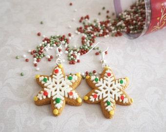 SnowFlake (Gingerbread Cookie) Earrings