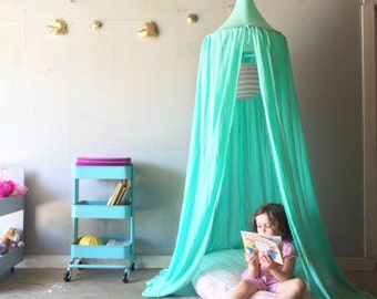 Play Canopy - Mint - Hanging Play Tent & Boho kids fashion | Etsy