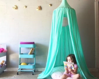Play Canopy - Mint - Hanging Play Tent