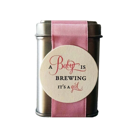 DIY A Baby is Brewing Tin Favors for a Girl Baby Shower - unassembled option