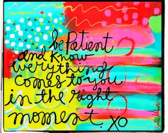 The Right Moment... Print on Wood Canvas