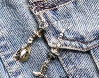 Western Theme Earrings - Cowgirl Dangle Earrings