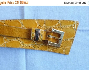 Mustard Italian Leather Belt