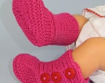 HALF PRICE SALE Digital pdf download Knitting Pattern -Baby 3 Button Booties (Boots) knitting pattern- Madmonkeyknits